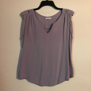 Maurice's soft purple shirt